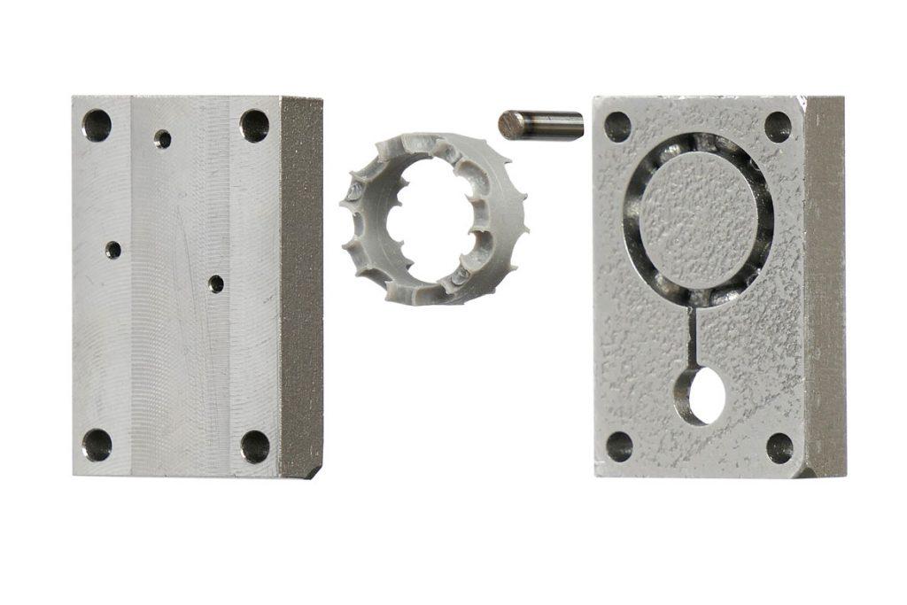 Molde metálico para inyección impreso en 3D con el proceso print2mould