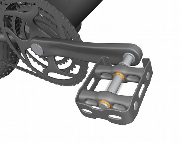 Bearings in bicycle pedals