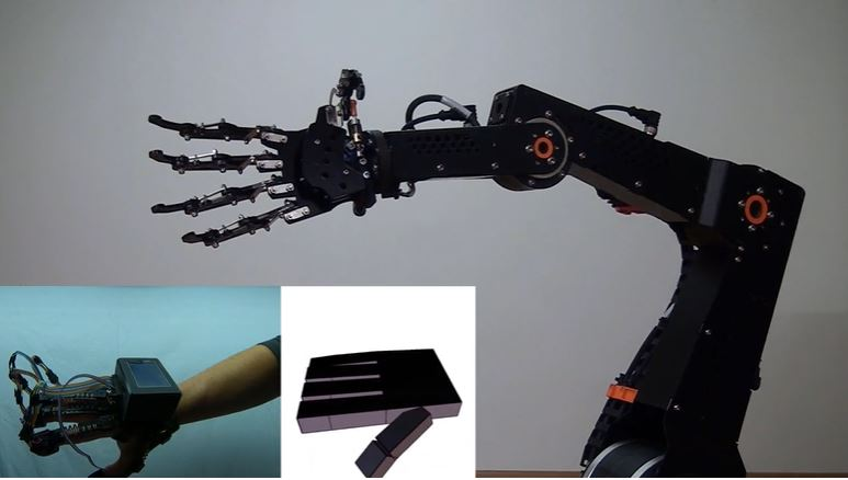 Gesture-controlled robot