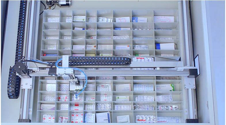Automation in a chemist's shop