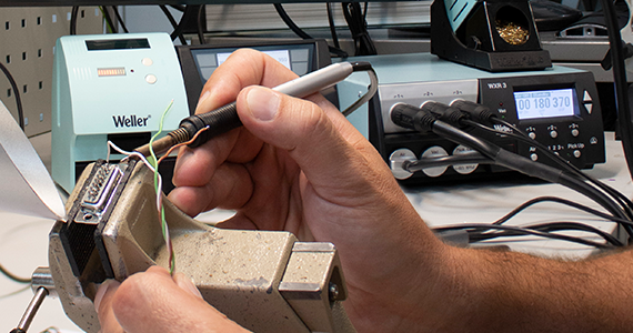 Professional soldering with a soldering station from Weller