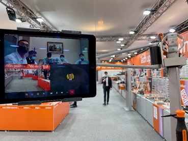 The trade show stand at the virtual trade show