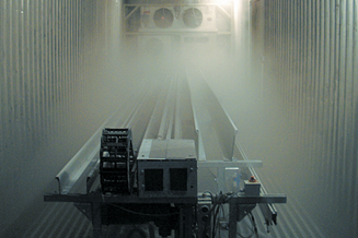 Climate chamber for testing cables